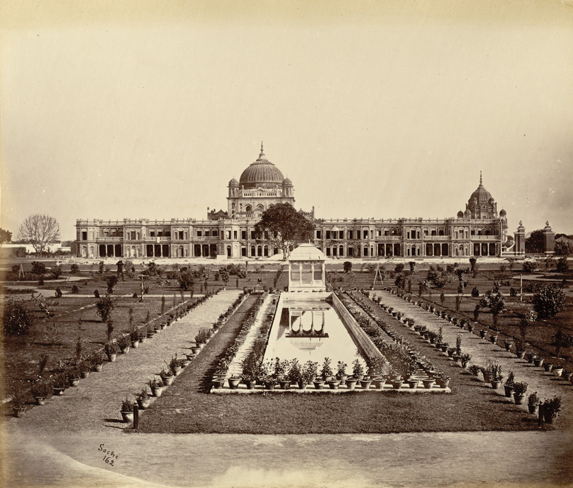 Kaisarbagh, with tombs of Saadat Ali & his Queen beyond, Lucknow.